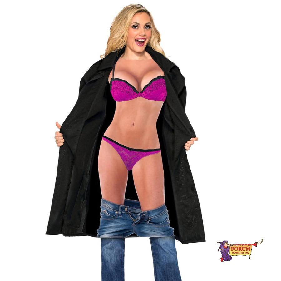 コスプレ 衣装 FORUM フォーラム F74609 怪しい女 OF30 正規品 コスチューム 衣装 衣裳 仮装 ジョーク おもしろい ドッキリ サプライズ かぶらない インスタ映え 露出狂 コート ビキニ ランジェリー 下着 ハロウィン セレブ アメリカ 海外 costume cosplay sns TDL USJ