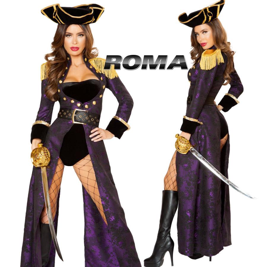 コスプレ 衣装 ROMA COSTUME ローマ RM 10104 パイレーツ 海賊 4点セット 正規品 ジャックスパロウ 船長 キャプテン ジャケット パンツ コスチューム 衣装 衣裳 仮装 ゴージャス かっこいい セクシー かわいい ファッション おしゃれ コーデ ハロウィン セレブ 海外