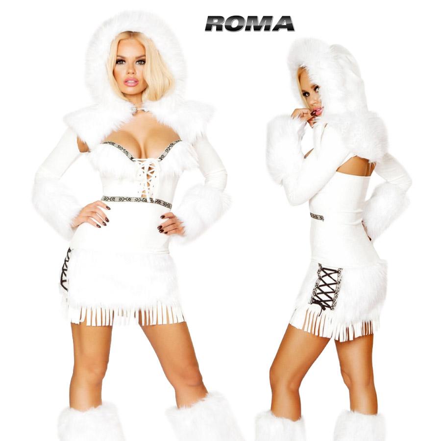 コスプレ 衣装 ROMA COSTUME ローマ RM10118 エスキモー2点セット 正規品 コスプレ衣装 コスチューム インディアン 民族 ボヘミアン フォークロア フリンジ セクシー 仮装 大人用 ハロウィン costume 映画 ファッション 海外セレブ インポート 衣裳 TDL 翌日配達