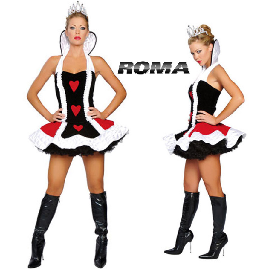 コスプレ 衣装 ROMA COSTUME ローマ RM 4060 クイーンオブハート 3点セット / OF15 正規品 ふしぎの国のアリス ハートの女王 赤の女王 コスチューム 衣装 衣裳 仮装 パニエ チュチュ セクシー かわいい ファッション おしゃれ コーデ ハロウィン セレブ 海外