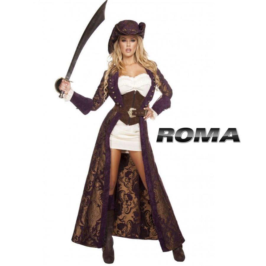 コスプレ 衣装 ROMA COSTUME ローマ RM 4574 パイレーツ 海賊 6点セット / OF15 正規品 ジャックスパロウ フック 船長 キャプテン コスチューム 衣装 衣裳 仮装 ゴージャス かっこいい セクシー かわいい ファッション おしゃれ コーデ ハロウィン セレブ 海外