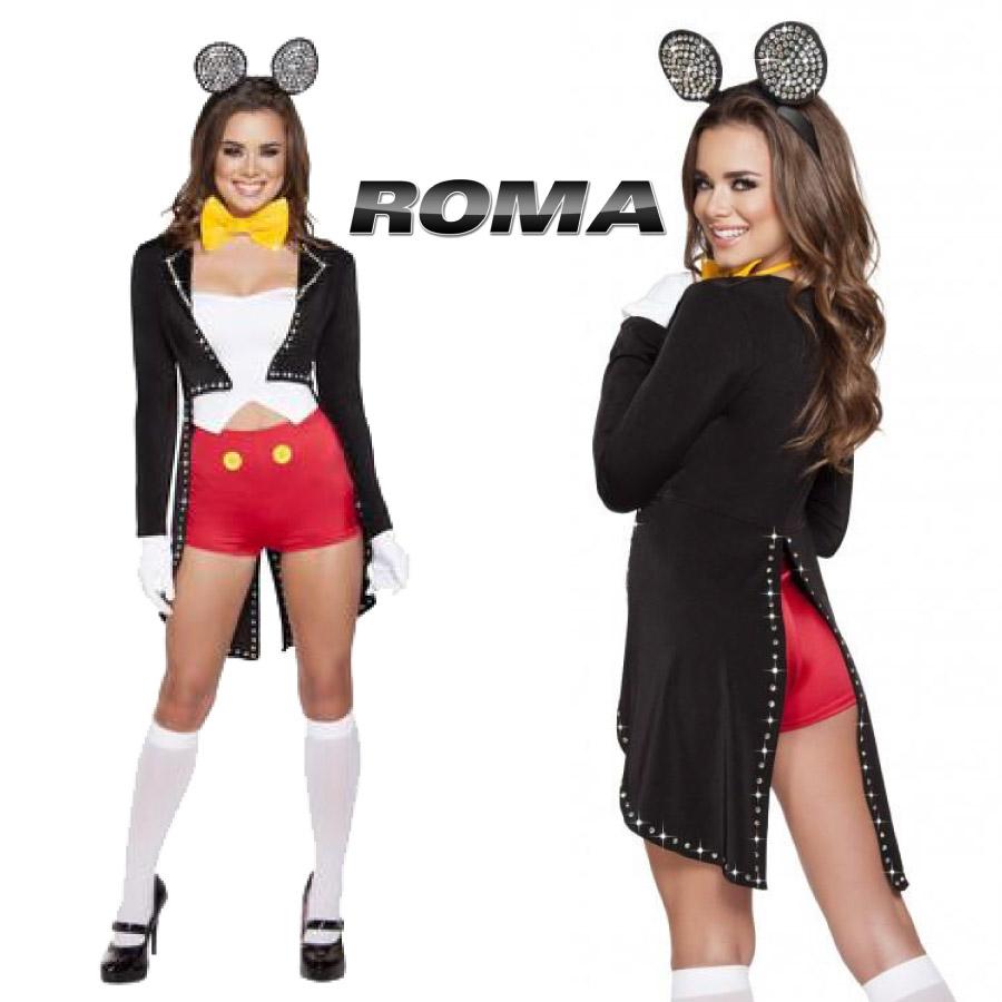 コスプレ 衣装 ROMA COSTUME ローマ RM 4624 ミスターマウス 5点セット / OF15 正規品 ミッキーマウス コスチューム 衣装 衣裳 仮装 パンツ ジャケット ラインストーン セクシー かわいい エロい ファッション おしゃれ コーデ ハロウィン パレード セレブ 海外