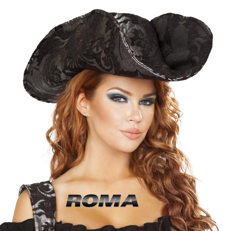 コスプレ 衣装 ROMA COSTUME ローマ ハット 帽子 RM-H4692 パイレーツ 海賊 正規品 ジャックスパロウ 船長 キャプテン コスチューム 衣装 衣裳 仮装 アクセ 小物 高級 本格的 かっこいい セクシー かわいい ファッション おしゃれ コーデ ハロウィン セレブ 海外