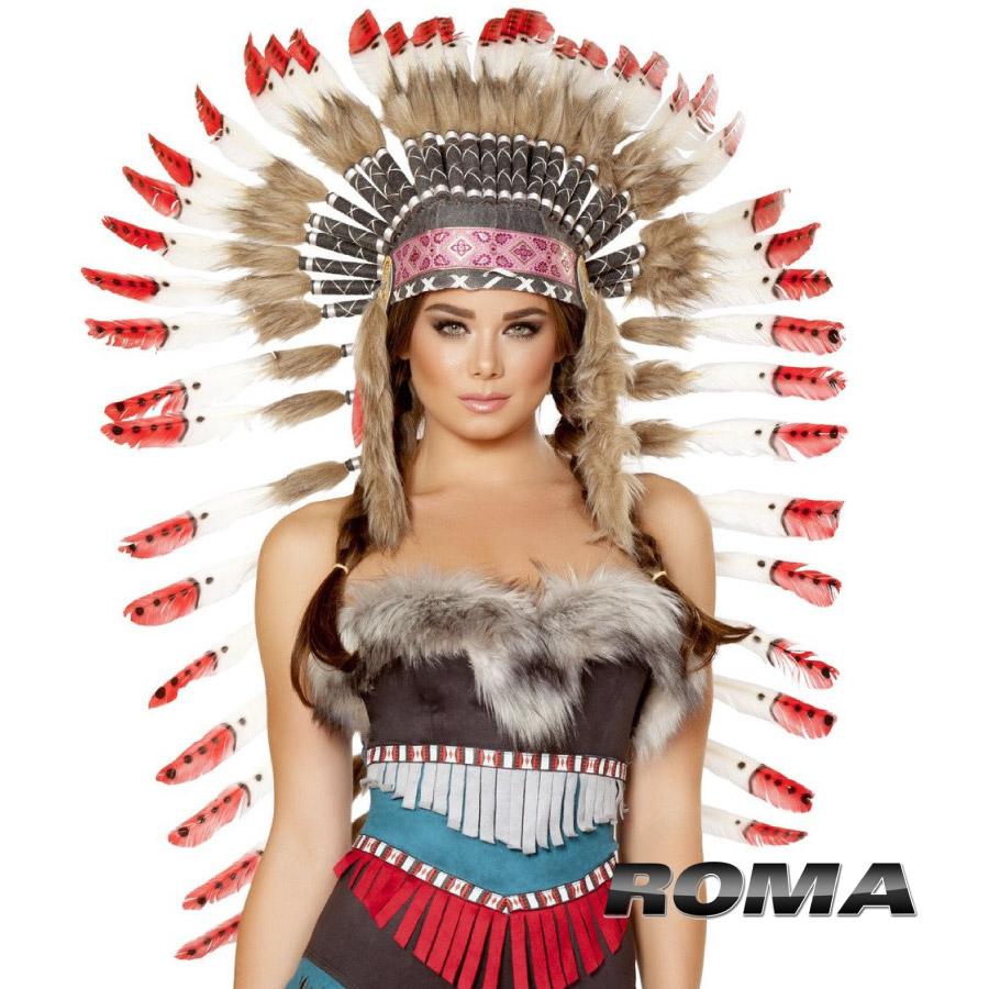 ROMA 民族 COSTUME おしゃれ ローマ ヘッドドレス RM- H4727 ボヘミアン インディアン 正規品 コスプレ衣装 ハット はね 羽根 民族 酋長 しゅうちょう ボヘミアン フォークロア アクセ 小物 付属品 レディース ファッション かわいい セクシー おしゃれ コーデ ホカホンタス セレブ インポート, アブタグン:e5fb1e21 --- officewill.xsrv.jp