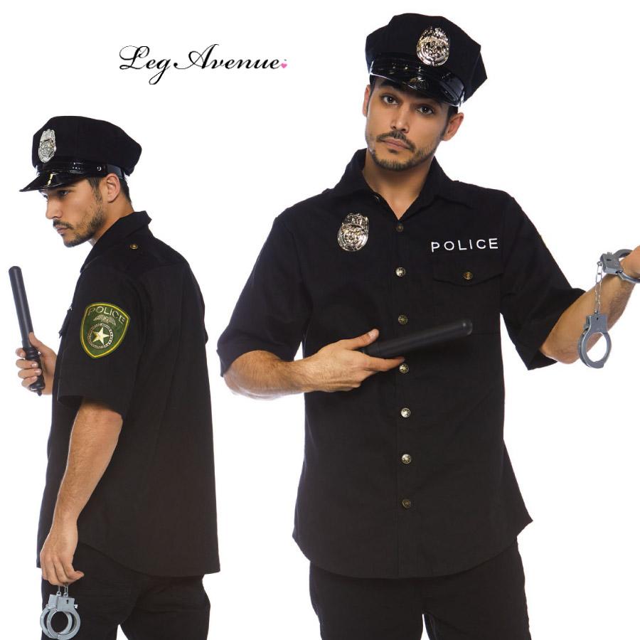 コスプレ 衣装 LEG AVENUE レッグアベニュー LA 83122 ポリス 警察 4点セット MEN'S 正規品 警官 手錠 男性 メンズコスプレ コスチューム ユニフォーム 衣装 衣裳 仮装 付属品 お揃い ブラック 黒 ハロウィン アメリカ 海外 costume cosplay police TDL USJ