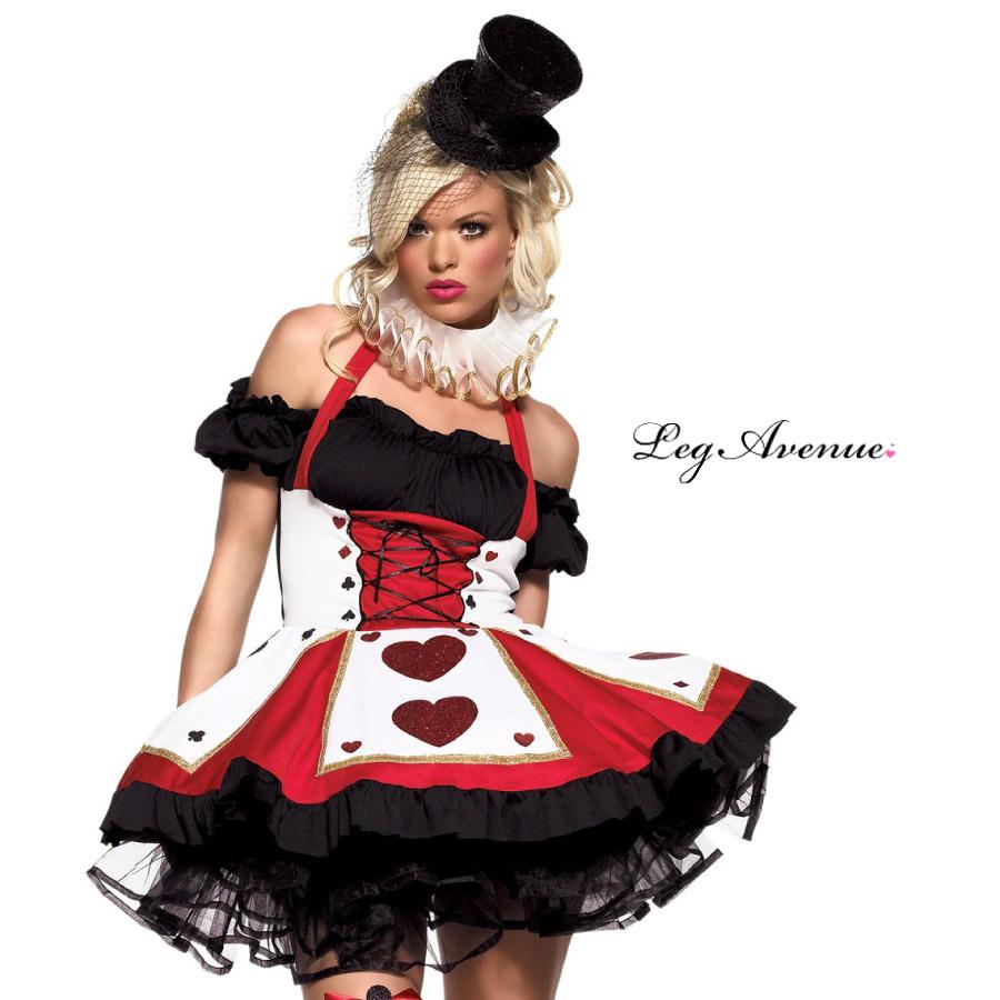 コスプレ 衣装 LEG AVENUE レッグアベニュー LA 83409 アリス ハートの女王 2点セット 正規品 ふしぎの国のアリス 赤の女王 コスチューム 衣装 衣裳 仮装 ビスチェ パニエ チュチュ セクシー かわいい ファッション おしゃれ コーデ ハロウィン セレブ 海外