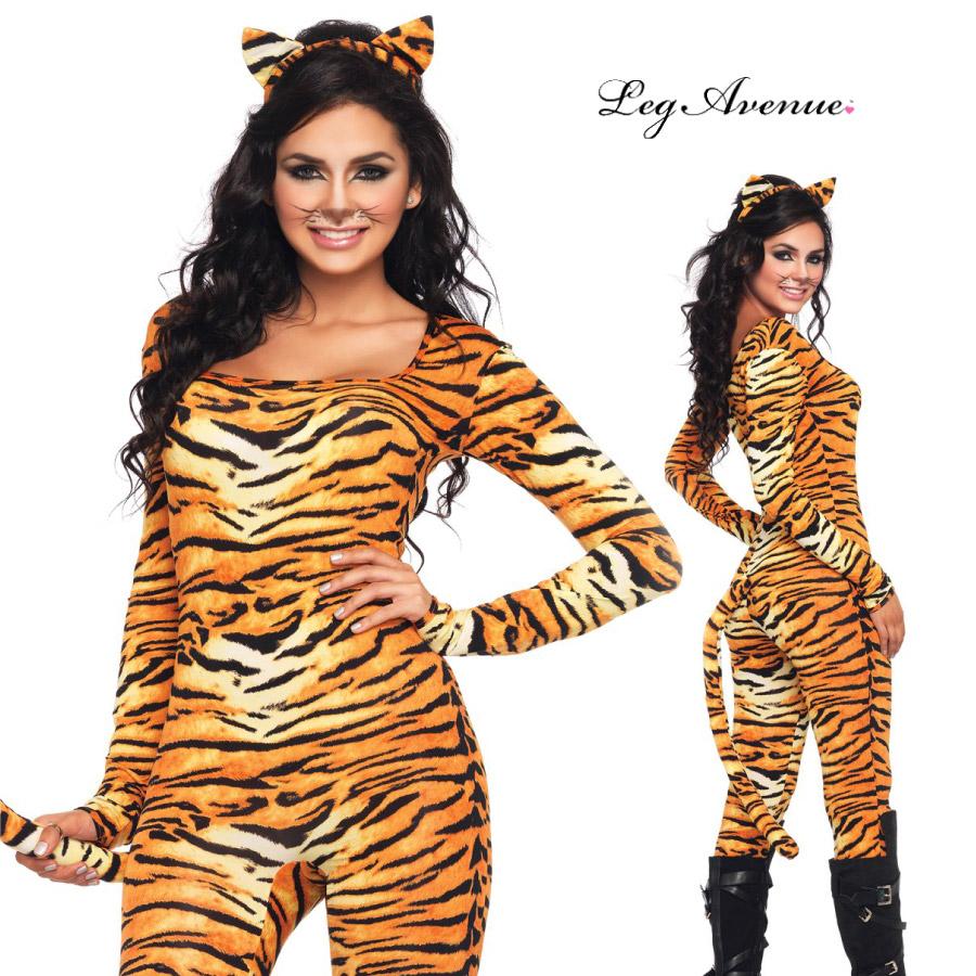 コスプレ 衣装 LEG AVENUE レッグアベニュー LA 83895 タイガー 2点セット 正規品 トラ 虎 とら アニマル 動物 コスチューム 衣装 衣裳 仮装 全身タイツ ボディースーツ 猫耳 セクシー かわいい エロい ファッション おしゃれ コーデ ハロウィン セレブ 海外