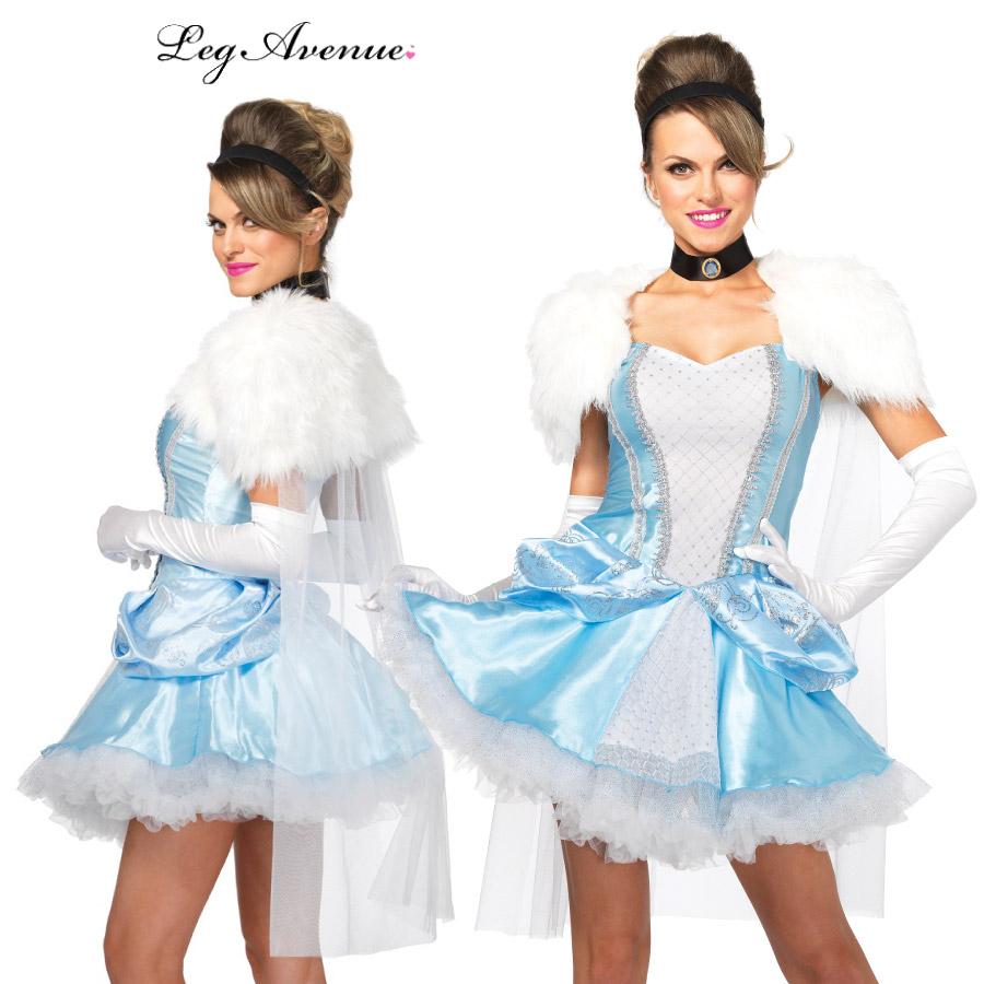 コスプレ 衣装 LEG AVENUE レッグアベニュー LA 85406 シンデレラ 3点セット 正規品 シンデレラ ガラスの靴 プリンセス 大人 コスチューム セクシー かわいい 衣裳 仮装 お姫様 ドレス 水色 ハロウィン ハロウィーン halloween costume 海外 インポート 翌日配達 あす楽