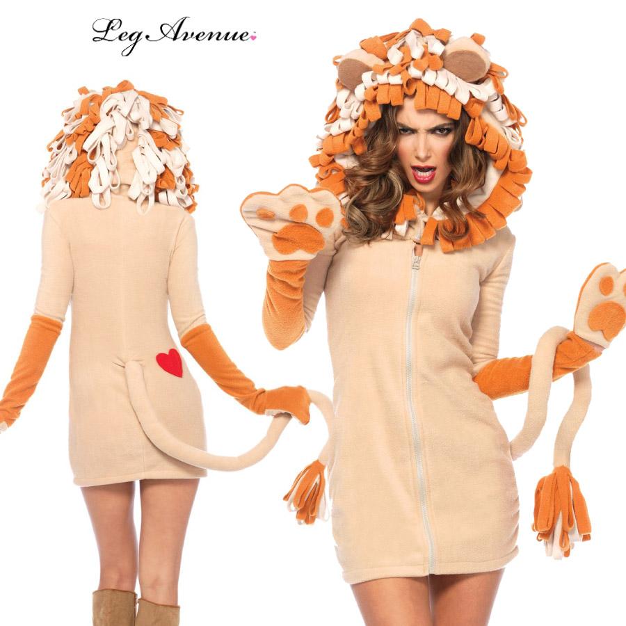 コスプレ 衣装 LEG AVENUE レッグアベニュー フリースパーカー LA 85501 ライオン 正規品 コスプレ衣装 仮装 大人用 コスチューム ハロウィン costume メイク ダンス ベリー ドレス 派手 セクシー プリンセス カラー 可愛い フェス 衣裳