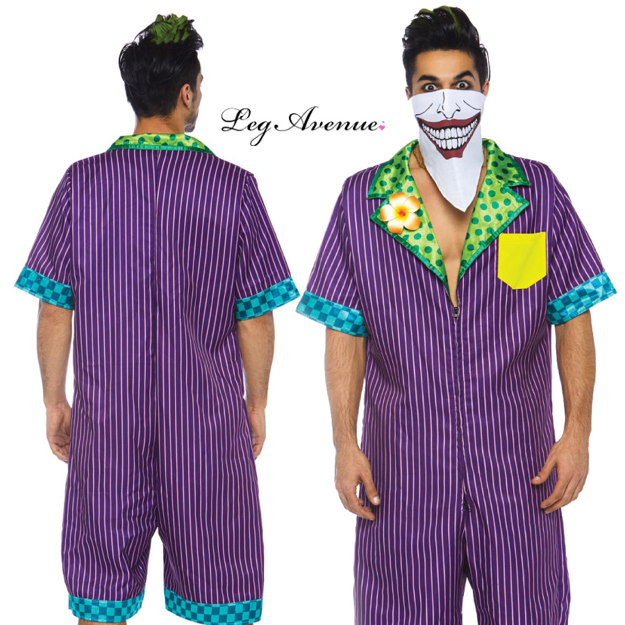 コスプレ 衣装 LEG AVENUE レッグアベニュー LA 86763 ヴィランズ 2点セット MEN'S 正規品 メンズ 男性 バットマン コスチューム 衣装 衣裳 仮装 サイコパス クレイジー セクシー かわいい かっこいい スタイリッシュ ファッション おしゃれ コーデ セレブ 海外