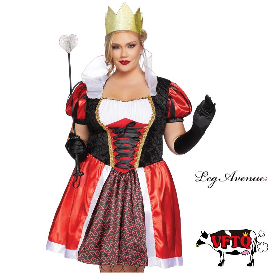コスプレ 衣装 LEG AVENUE レッグアベニュー LA 86839X ハートの女王 2点セット BIG SIZE 2019新作 正規品 ビッグサイズ ふしぎの国のアリス コスチューム 衣装 衣裳 仮装 セクシー かわいい ファッション おしゃれ コーデ ハロウィン セレブ 海外 costume 1X 2X 3X 4X