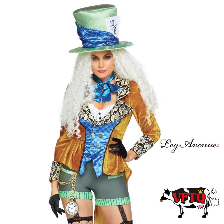 コスプレ 衣装 LEG AVENUE レッグアベニュー LA 86874 マッドハッター 4点セット 2019新作 正規品 ふしぎの国のアリス いかれ帽子屋 ジョニーデップ コスチューム 衣装 衣裳 仮装 パンツ セクシー かわいい ファッション おしゃれ コーデ ハロウィン セレブ 海外