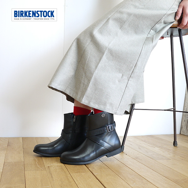 BIRKENSTOCK ビルケンシュトック COLLINS Collins black boots NATURAL LEATHERBLACK 1001009 lady's latest point digestion