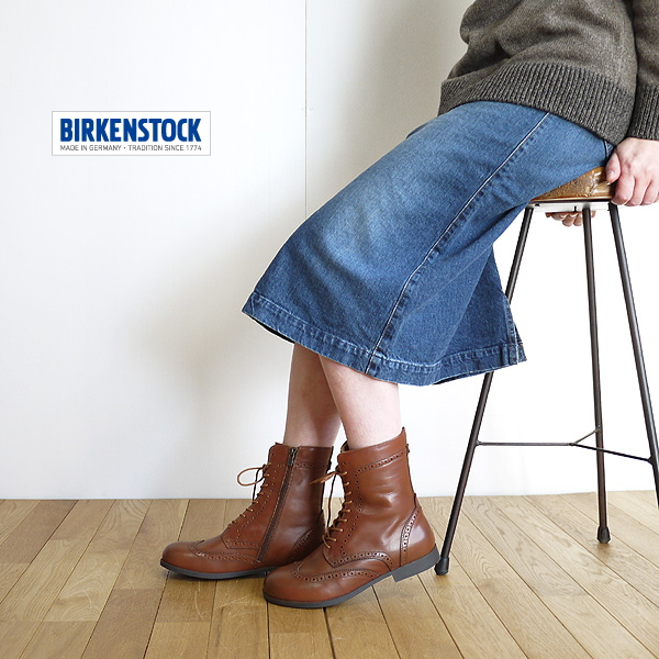 BIRKENSTOCK ビルケンシュトック LARAMIE Laramie brown boots NATURAL LEATHERCUOIO 1001050 lady's latest point digestion