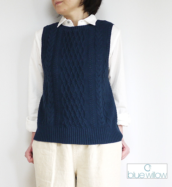 b7cc993b687 supereasy natural wear Japan  10% off coupon-10 22 blue willow 016SP29049  Blue Willow linen cotton knit toggle best Blue willow Blue Willow 0601  Rakuten ...