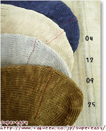 Hoffmann Hoffmann cotton slab 3 rib メッシュリブ socks ladies