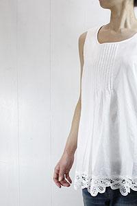 Liner LINER NOTES-07082 collarless hem rasping putti tunic tunics sleeveless ブラウスレディース