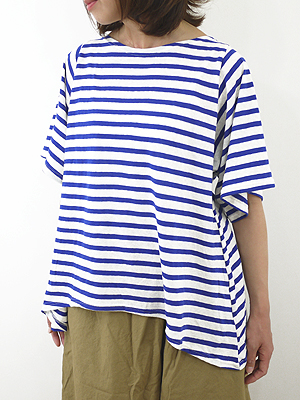 11 / 18 To 14 Midi Umi (Midi-Umi ミディウミ) border wide T border wide T-2-71948 ladies
