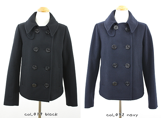 FABRIQUE en planete terre ファブリケアンプラネテール (R eyes alleys) Heavy melton peacoat, Womens 08312066