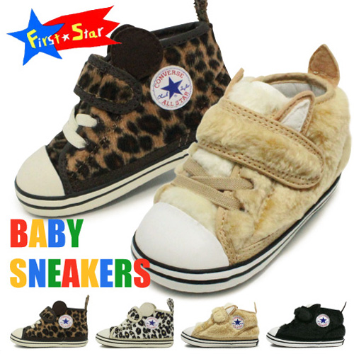 98e79bd3c707 Converse baby shoes kids sneakers Velcro baby all-star BABY ALL STAR  MINILEOPARD V-1 AMFUR V-1