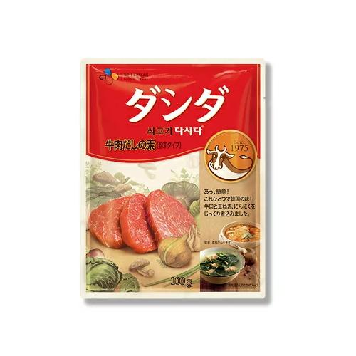 6213 8個までメール便対応可 CJジャパン ダシダ 牛肉だしの素 牛肉スープを濃縮したダシダ パッとできる 100g×1個スプーン一杯で 手軽にコクをプラス お買い得 買い取り