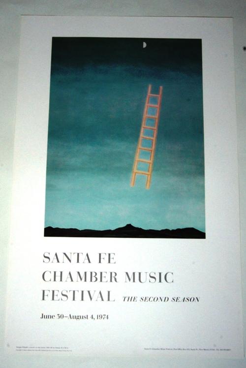 フィフティーズを代表する Ladder to 絶品 the Moon 月へのはしご;1958年 ポスター 月へのはしご 人気海外一番 ジョージア 名作 アート サンタフェ オキーフ