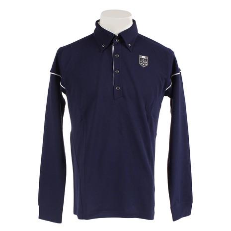 カッパ(Kappa) ゴルフウェア メンズ 鹿の子長袖ポロシャツ KG852LS52-NV (Men's)