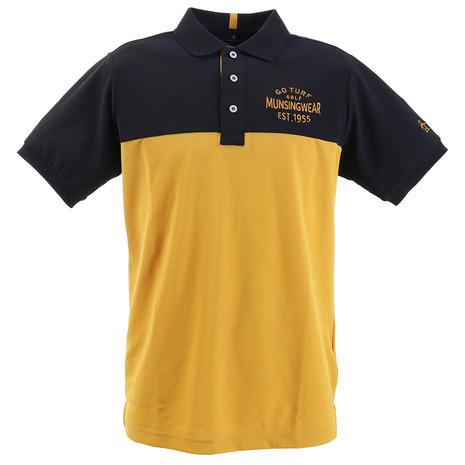 マンシングウエア(MUNSING WEAR) ポロシャツ メンズ COOLIST 胸切替半袖ポロシャツ MGMPJA14-YLNV (Men's)