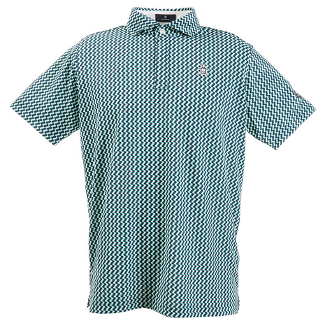 マンシングウエア(MUNSING WEAR) ポロシャツ メンズ COOLIST 小柄プリント半袖ポロシャツ MGMPJA15-EM00 (Men's)