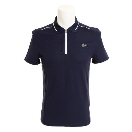 ラコステ(LACOSTE) 【海外サイズ】ゴルフウェア メンズ クリアラバーネーム入りハーフジップゴルフポロシャツ DH3462L-525 (Men's)