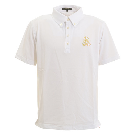 エピキュール(epicure) ゴルフウェア メンズ クールマックス鹿の子ポロシャツ EN37JG06 WHT (Men's)