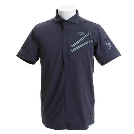 オークリー(OAKLEY) ゴルフ ウエア ポロシャツ メンズ メンズ SKULL CLAWZIP シャツ 434389JP-00N (Men's)