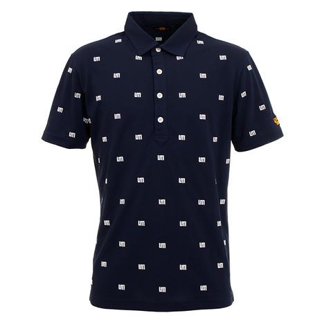 ラウドマウス(LOUDMOUTH) ゴルフウエア メンズ LM刺繍 飛び柄半袖シャツ 760608-997 (Men's)