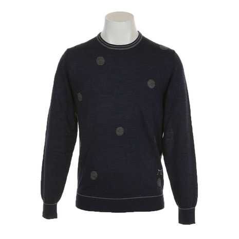 DIMATTIA ゴルフウェア メンズ 長袖セーター Pois Round 6M0008 NVY (Men's)