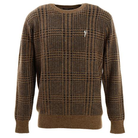 フィドラ(FIDRA) アルパカチェックセーター FV38VJ05 BRN (Men's)