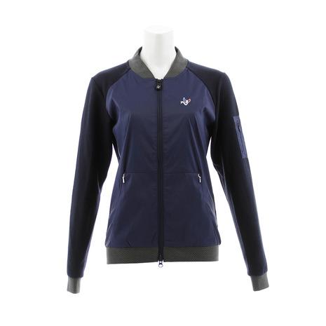 クランク(CLUNK) ゴルフウェア アウター ストレッチフリースコンビジャケット CL38UY01 NVY (Lady's)