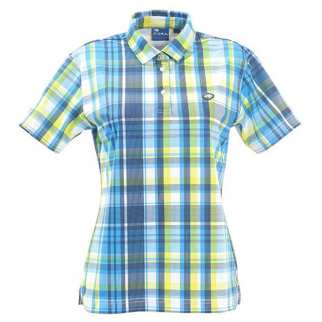 フィドラ(FIDRA) マドラスチェックポロシャツ FD5HUG06 WHT (Lady's)