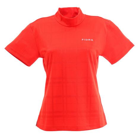 フィドラ(FIDRA) ゴルフ シャツ レディース チェックモック ハイネックシャツ FD5HUG51 RED (Lady's)