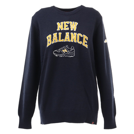 ニューバランス(new balance) ゴルフ セーター レディース カレッジロゴクルーネックニットPO 012-8270502-120 (Lady's)