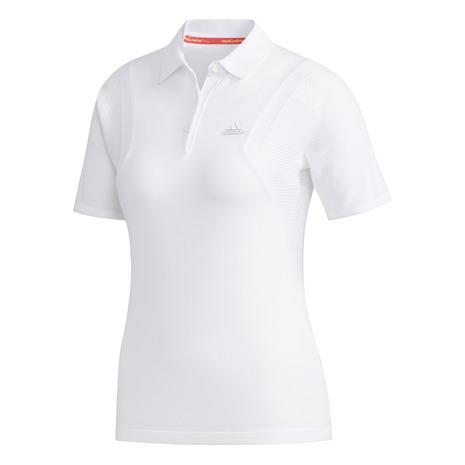 アディダス(adidas) ゴルフ ポロシャツ レディース ジャカードパターン 半袖ニットシャツ GKI37-FJ3843W (Lady's)