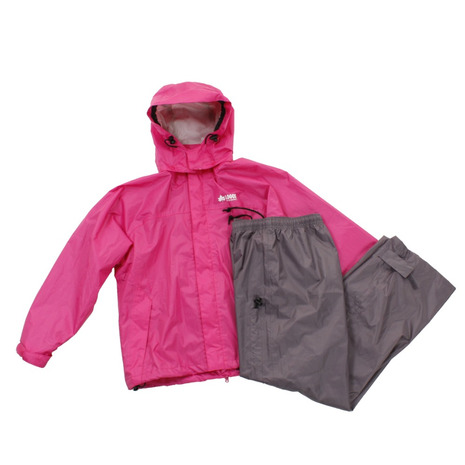 スーパースポーツゼビオ市場店 ロゴス LOGOS レインコート 上下 ジュニア レインスーツ 28242 収納袋付 春の新作シューズ満載 MGT B プレゼント 防災 かわいいレインウェア キッズ ピンク
