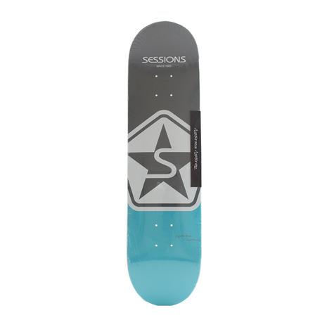 セッションズ 美品 大好評です SESSIONS スケートボード デッキ ICON 208132GRY BLU メンズ スケボー レディース 8インチ