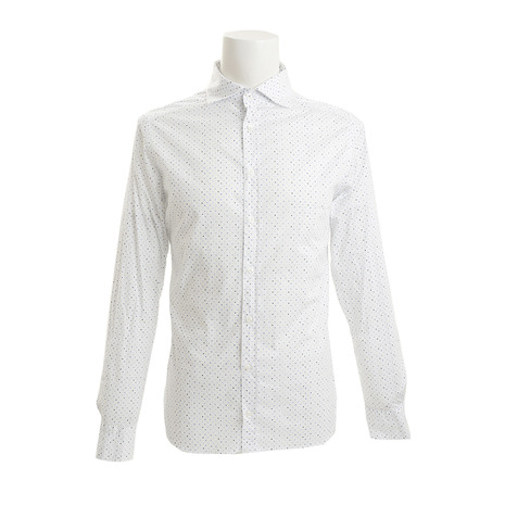 長袖ウーブンシャツ CA113C590 WH/BLU
