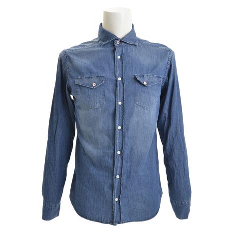 エグジビット(EXIBIT) レギュラーシャツ CA113 C30/1 IDBLU (Men's)