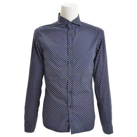 エグジビット(EXIBIT) レギュラーシャツ CA113 C709 NVYBRN (Men's)