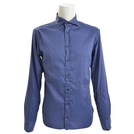 エグジビット(EXIBIT) レギュラーシャツ CA113 C712 NVYBLU (Men's)