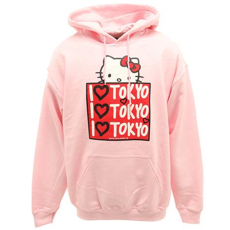 【5のつく日 エントリー&カード決済でポイント5倍~】 セブンユニオン(7UNION) アイラブ東京 フーディー BoxKitty H002-Pink-M (Men's)