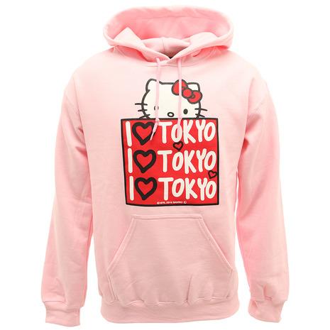 【5のつく日 エントリー&カード決済でポイント5倍~】 セブンユニオン(7UNION) アイラブ東京 フーディー BoxKitty H002-Pink-S (Men's)