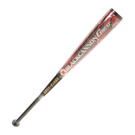 ゼット(ZETT) 野球 軟式 FRP製バット ブラックキャノン GREAT 83cm/平均710g BCT35083-1964 付属品:A (Men's)