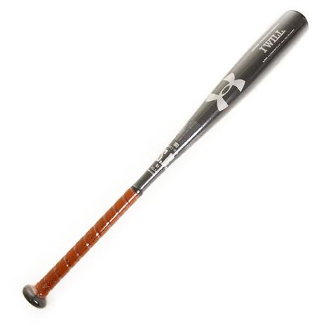 アンダーアーマー(UNDER ARMOUR) ボーイズ 軟式用金属製バット ベースボールユース 76cm/平均530g #1313889 BLK BB (Jr)